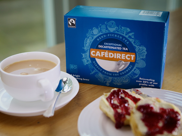 NEW Fairtrade Decaf Tea with scone landscape