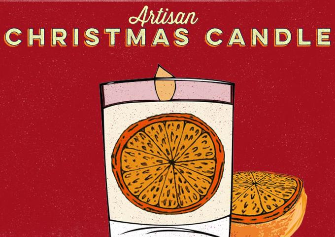 Artisan Christmas candle Cafedirect