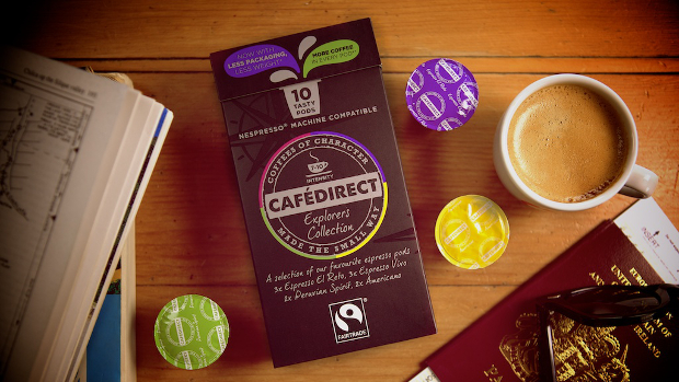 Cafedirect fairtrade Nespresso machine compatible pods Explorer's collection